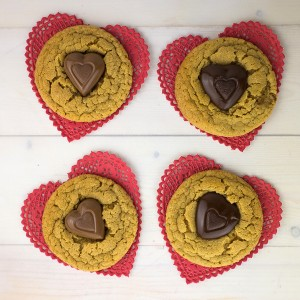 Peanut Butter Heart Cookies