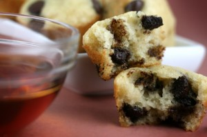 maple chocolate chip pancake muffins