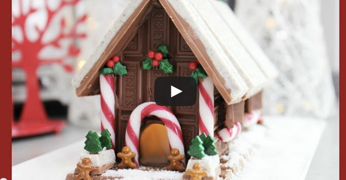 DIY chocolate christmas house