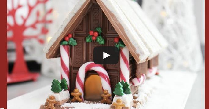 DIY chocolate christmas house